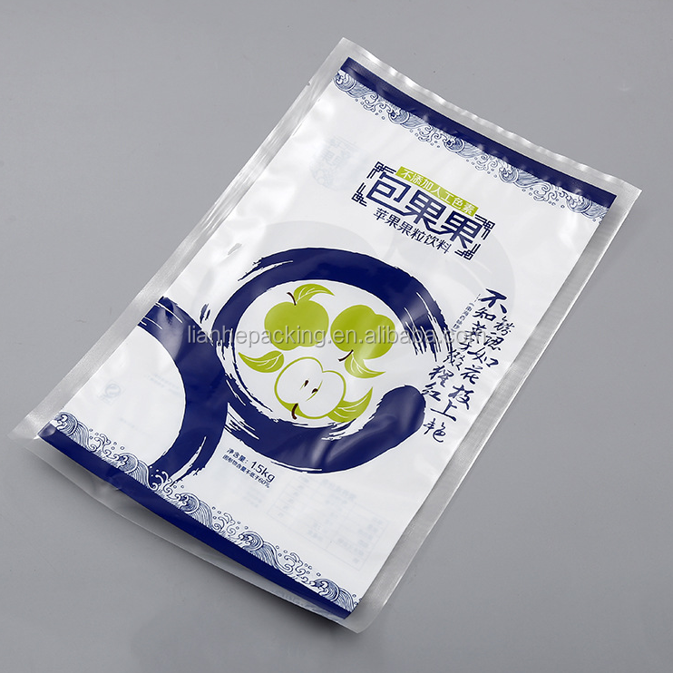 sea food design/manufacturing laminated clip squid plastic bags/frozen food packaging