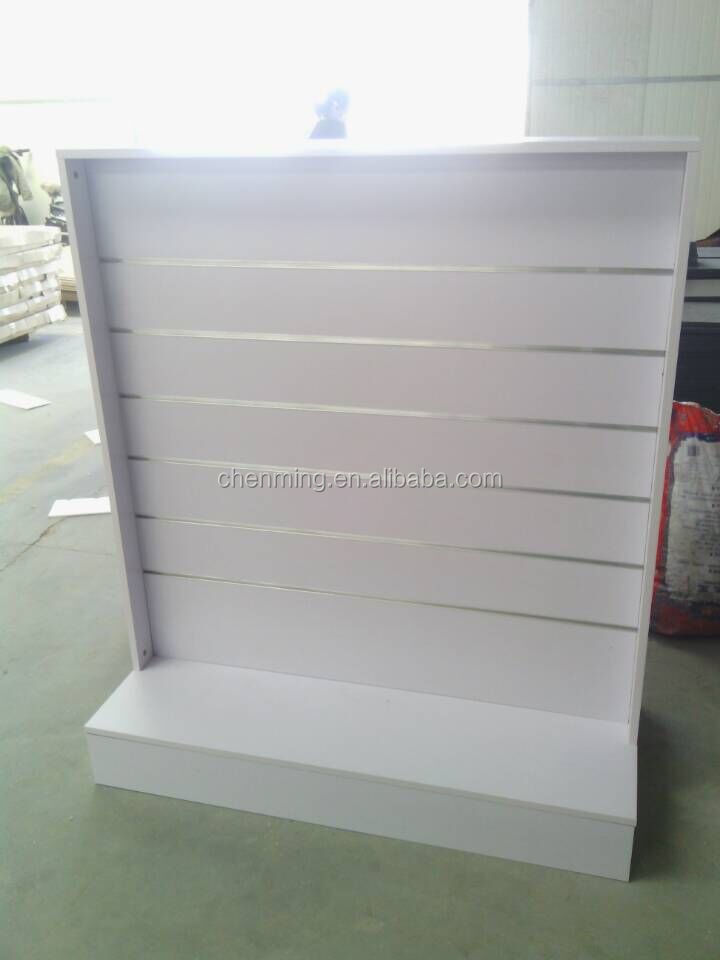 MDF slatwall display Gondola