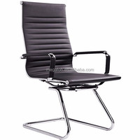 black leather office chair/ conference chair without wheels(F11-C)