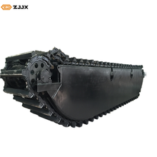 ZJJX Floating Pontoon undercarriage with Doosan motors for 28~30MT amphibious excavators