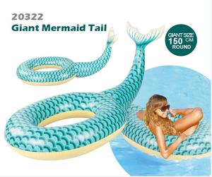 PVC Inflatable ring and Float Giant Mermaid Tail