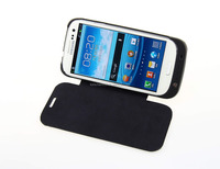 leather cover qi standard wireless charger receiver case for samsung s4 mini