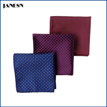 Custom Jacquard Polyester Brand Handkerchief Colorful Men Pocket Square