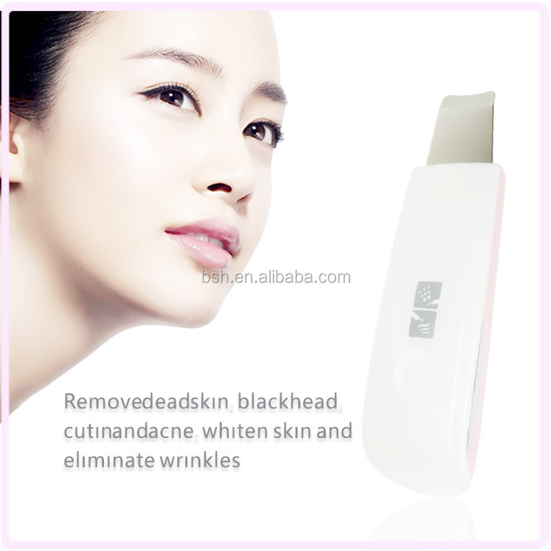 Korea Cheap Rechargeable Ultrasonic Skin Scrubber skin peeling
