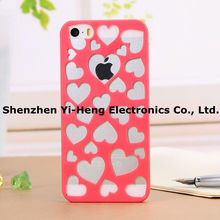 Wholesale New Fashion Hot selling Sweet heart Nice candy Soft 7 Colors pc Case for Iphone 5 5s