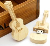 Free Sample, Gift Wood Guitar 2gb 8gb 16gb USB flash drive with case