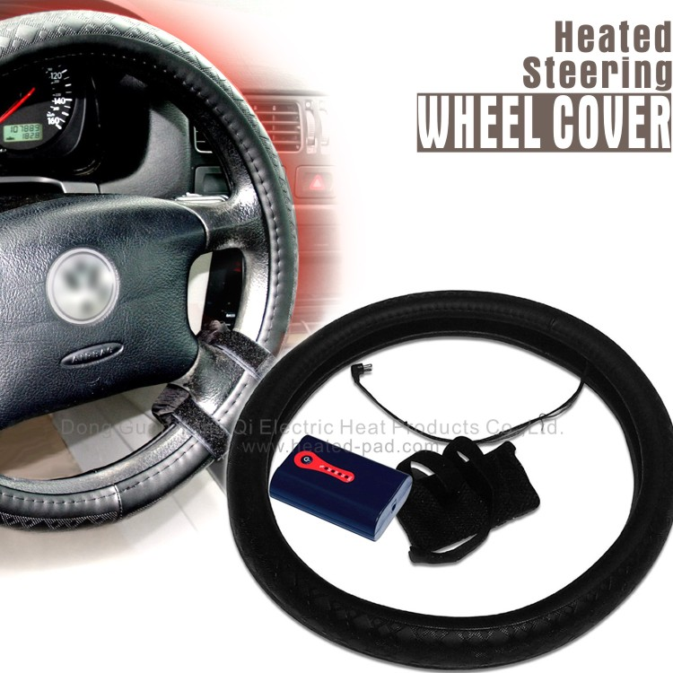 Heated Steering Wheel Cover With Battery