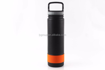 27oz double wall 18/8 vacuum flask with wide mouth bottle,Custom color painting insulated sport thermo flask bottle with rubber