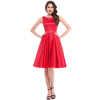 Belle Poque Stock Sleeveless Crew Neck Red Pinup Swing Evening Party Wedding Prom Rockability 50s Vintage Dress BP000004-2