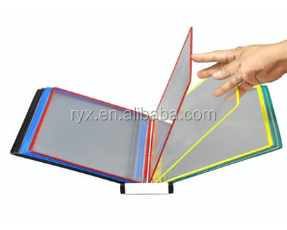 plastic rotating horizontal file rack wall file shelf file holder