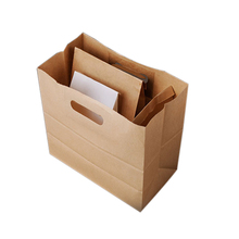 Printing manufacturer wholesale remarkable quality cheap shopping small kraft paper bag