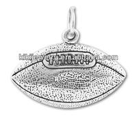 Fashion Metal Sports Charm Football Pendant