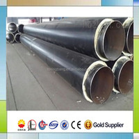 district heating hot water pipe pu foam insulation material filling hdpe covering pre insulated steel pipe