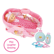new design 12 inch fashion doll with cradle and rattles
