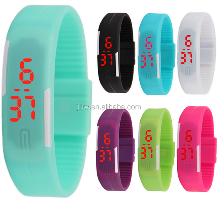 nice sport promotional branded watch silicon wrist watch