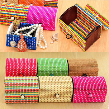 Wedding Decoration Box Bamboo Jewelry Gift Box