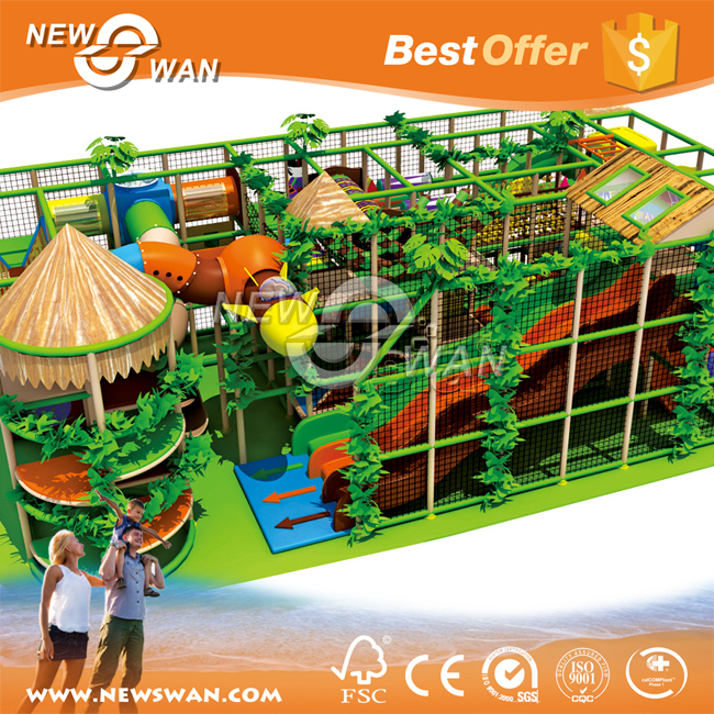 Forest Theme Naughty fort / Indoor Soft Playground for 3-15 Age