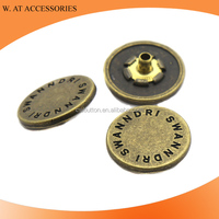 Fashion anti-brass Four Parts Press Metal Snap Button for coat