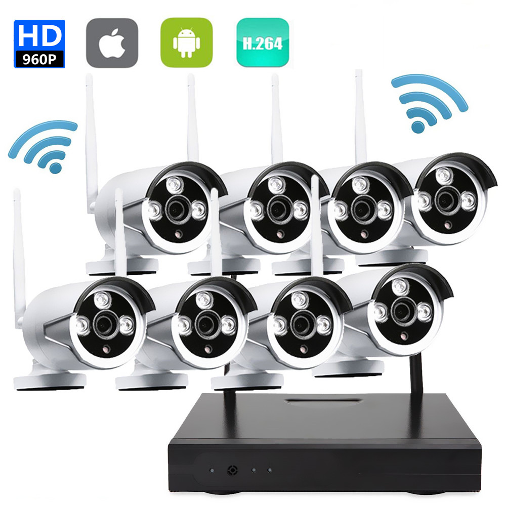 720P HD Surveillances Camera System 960P HDMI CCTV Video Surveillance 8CH NVR Kit for security camera system 8ch for small shops