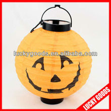 lovely yellow paper halloween lantern