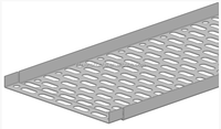 Throught type Zinc passivated Cable tray