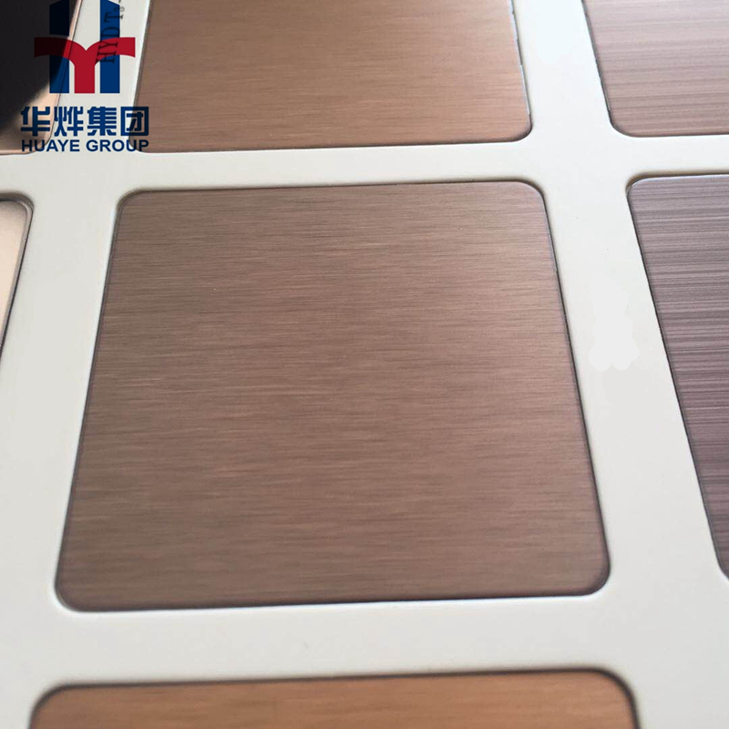 Brushed Finished Matt Anti-fingerprint Color Stainless Steel Sheet Wall Panel
