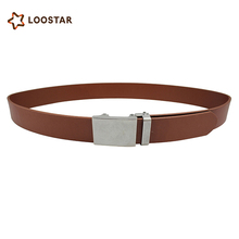LOOSTAR 2017 Fashion Men Non Metal Knotted Leather Belt Men Belt With No Metal