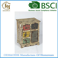 Antique Design Fir Wood Cabinet with Small Drawers Furniture