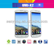 5 inch UMI X2 MTK6589 Quad Core cell Phone 1920x1080 Pixel 2GB/32GB WCDMA Android 4.2 WiFi Bluetooth GPS In Stock