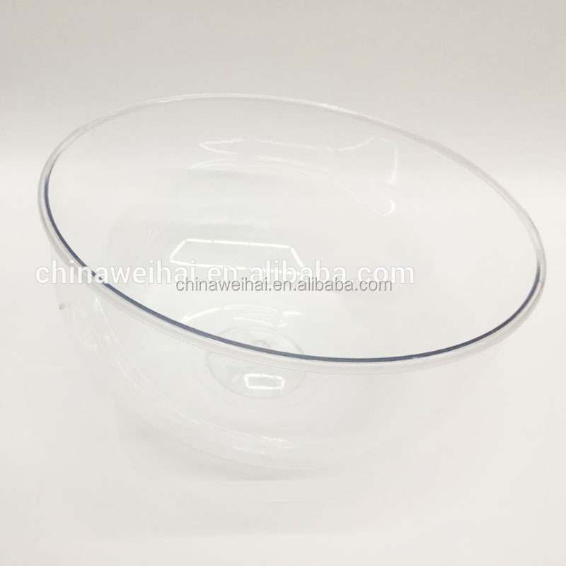 100pcs in stock round clear plastic bowl <strong>display</strong>