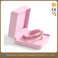 China unique velvet jewelry bracelet packaging gift box