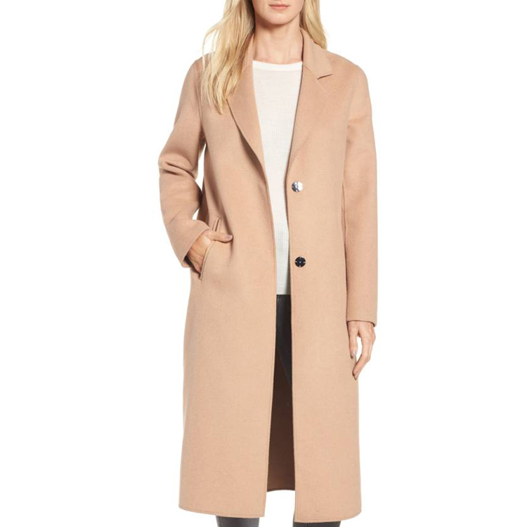 apparel women clothes in china spring jacket wool blend trench long coats with double face