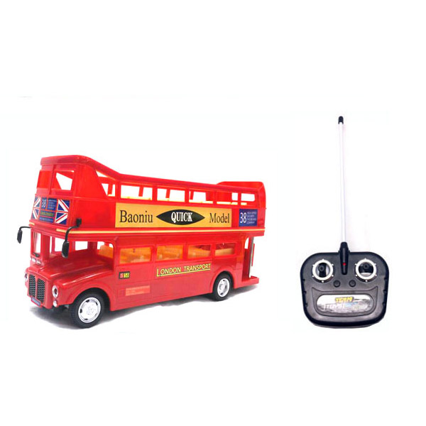 China wholesale toy 4CH RC toy double decker bus with Light+Music+Rechargeable