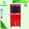 Mobile industrial air cooler with humidity control air cooler stand