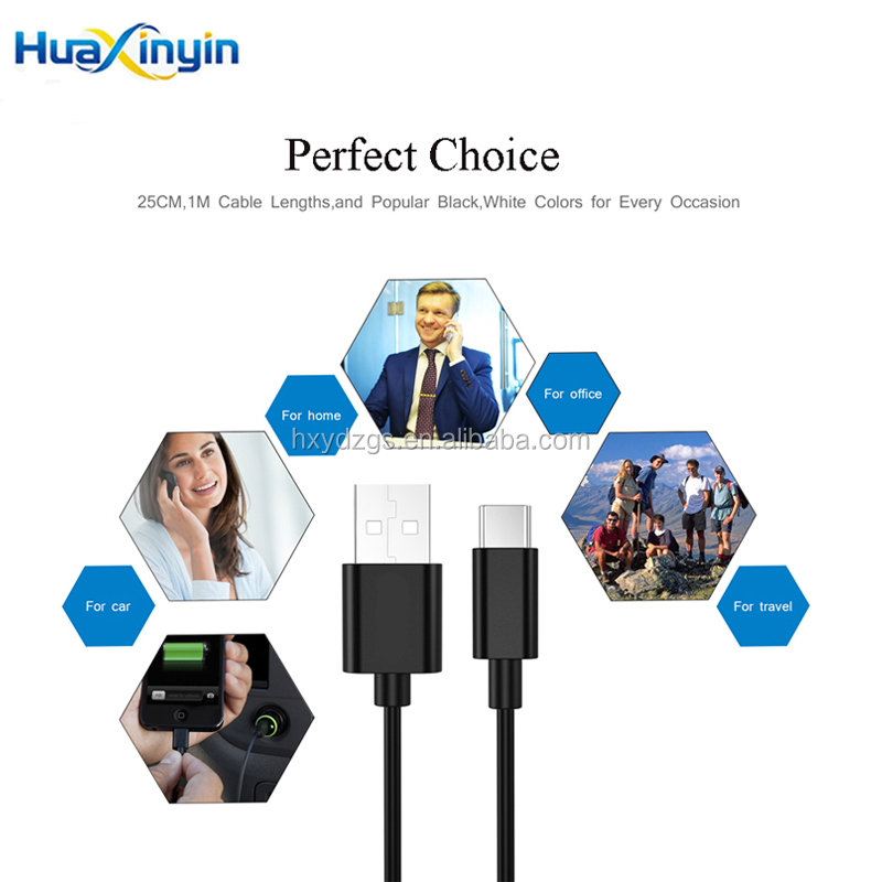 2017 Hot Sale Product USB 2.0 Type C Mobile Phone Charging Data Cable