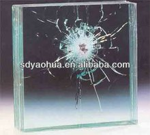 Safety sound control acoustic laminated glass colored window glass