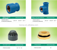Zhejiang Factory Female Tee adjustable Joint Socket pipe fittings