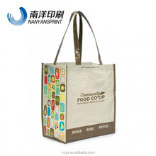 Top quality non-woven promotion bag/100g pp laminate nonwoven shopping bag