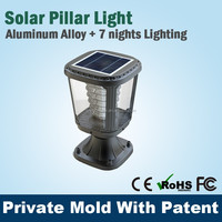 China Electric Solar Powered Pillar Light Led For Garden Gate