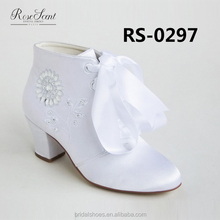 low heel crystal wedding shoes for little girls