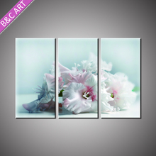 Group Canvas Printing Fine Wall Art Fabric Painted Pictures of Flowers