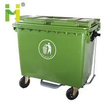 hot 660L wheeled plastic garbage can