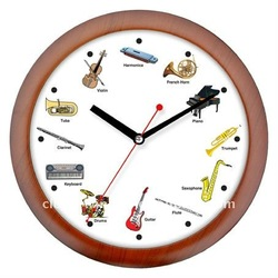 Music talking wall Clock