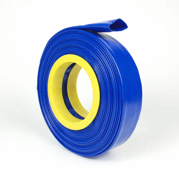"""Blue PVC Layflat Hose Water Discharge Pump Delivery Pipe 4 BAR 1/"""" 1¼/"""" 1½/"""" 2/"""" 3/"""""""
