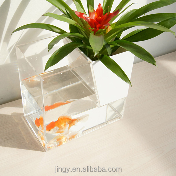 tabletop acrylic fish tank flower vase handmade designs