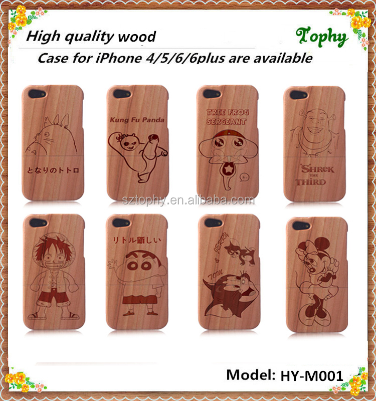 Natural Wooden Bamboo Hard Back Case for Wood iPhone 5 6 case