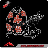 New design easter bunny rhinestone transfers wholesale for Easter Day