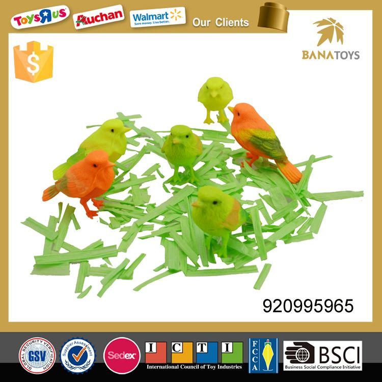 Plastic animal toy sound control bird toy for kids