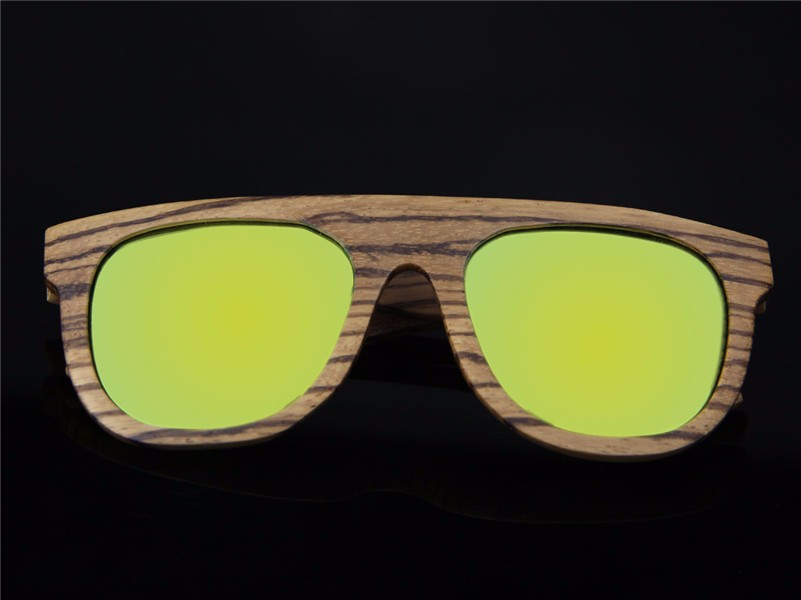 Latest fashion Retro style round wood eyeglass men bamboo wood frames