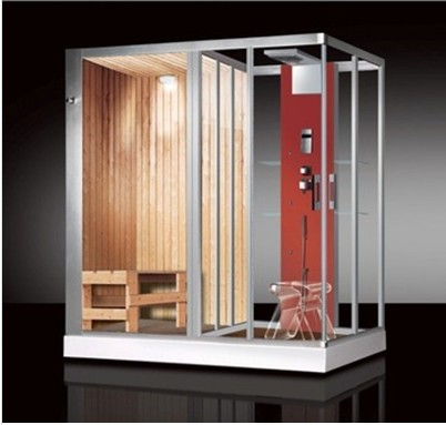 CE approved commercial wood steam shower room outdoor steam room sale with sauna